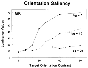 measuring salience of orientation popout